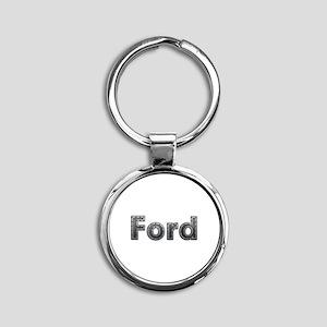 Ford Metal Round Keychain