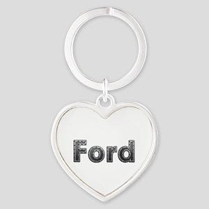 Ford Metal Heart Keychain