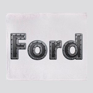 Ford Metal Throw Blanket