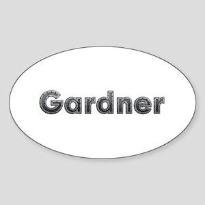 Gardner Metal Oval Sticker