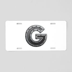 G Metal Aluminum License Plate