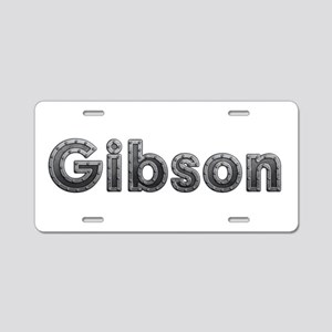 Gibson Metal Aluminum License Plate