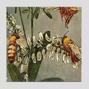 3 Bees Tile Coaster