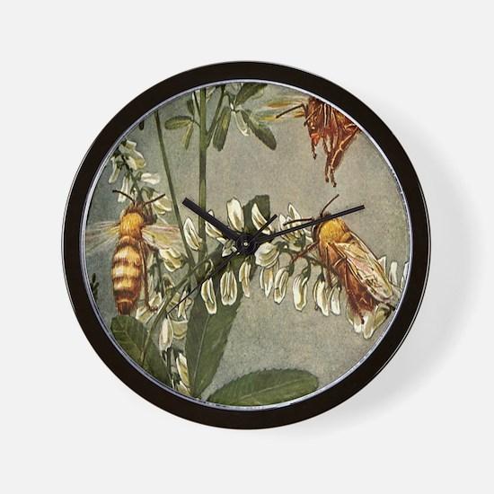 3 Bees Wall Clock