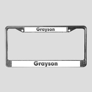Grayson Metal License Plate Frame