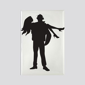 Fireman's Wife Rectangle Magnet