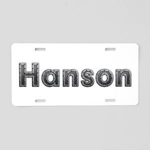 Hanson Metal Aluminum License Plate