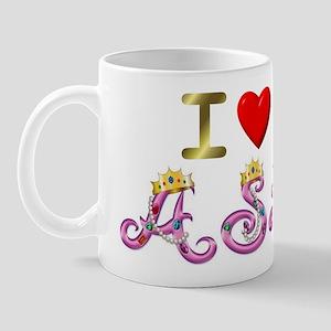 I Love ASL & Being a Princess Mug