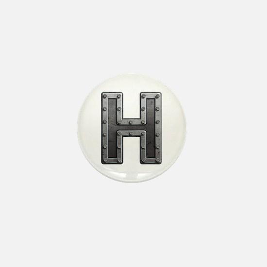 H Metal Mini Button