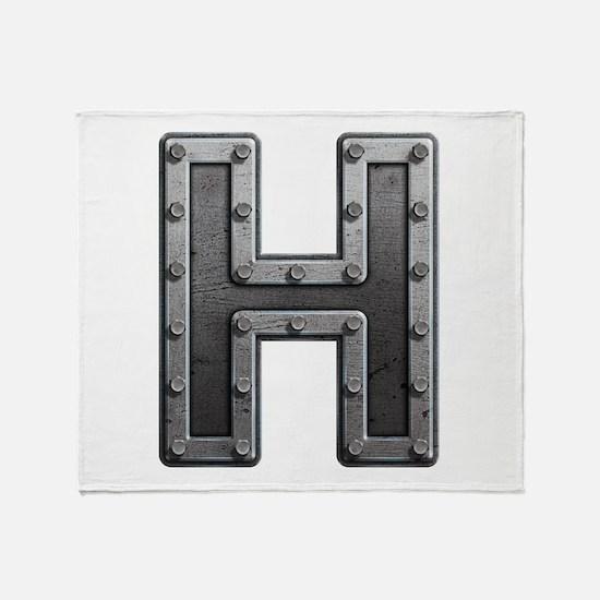 H Metal Throw Blanket