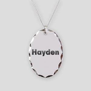 Hayden Metal Oval Necklace