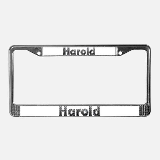 Harold Metal License Plate Frame