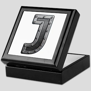 J Metal Keepsake Box