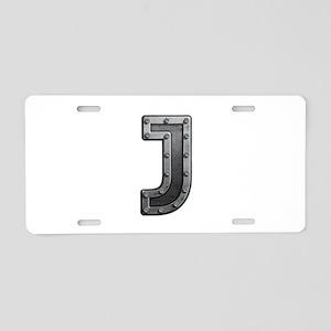 J Metal Aluminum License Plate