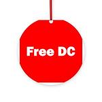 Free DC Ornament (Round)