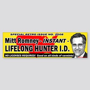 Romney - All Kinds of Varmints! Bumper Sticker
