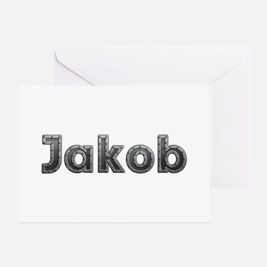 Jakob Metal Greeting Card