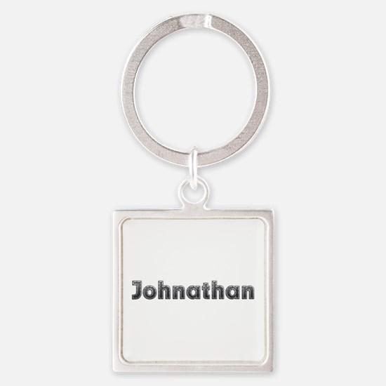 Johnathan Metal Square Keychain
