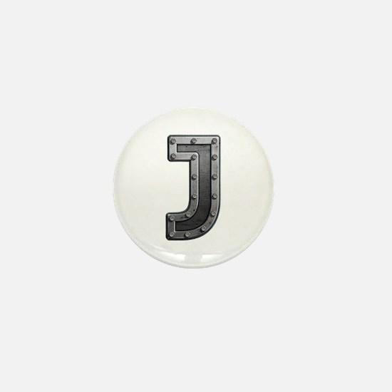 J Metal Mini Button
