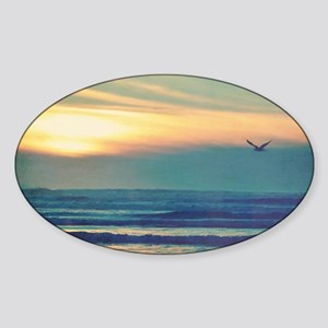 Take Me to the Sea Sticker (Oval)