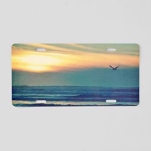 Take Me to the Sea Aluminum License Plate