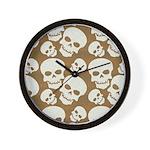 Skull Illustration Pattern Design Wall Clock