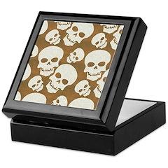 Skull Illustration Pattern Design Keepsake Box