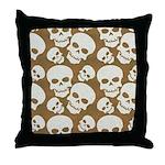 Skull Illustration Pattern Design Throw Pillow