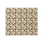 Skull Illustration Pattern Design Throw Blanket
