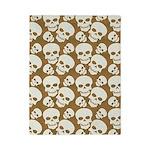 Skull Illustration Pattern Design Twin Duvet
