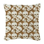 Skull Illustration Pattern Des Woven Throw Pillow