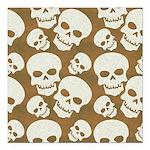Skull Illustration Patte Square Car Magnet 3