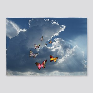 Butterfly Clouds 5'x7'Area Rug