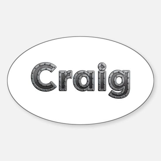Craig Metal Oval Decal