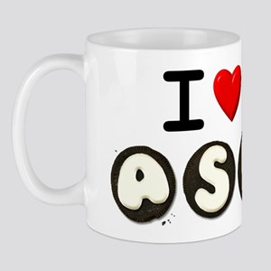 I Love ASL & Cookies, Who doe Mug