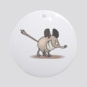 Silly Smiling Anteater Ornament (Round)