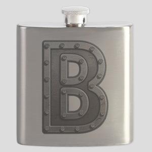 B Metal Flask