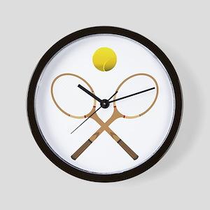 Sports - Tennis - No Txt Wall Clock