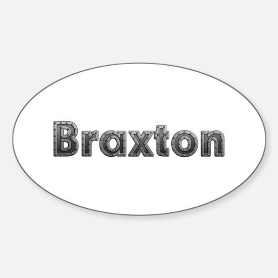 Braxton Metal Oval Decal
