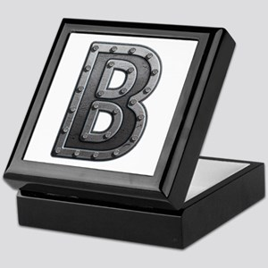 B Metal Keepsake Box