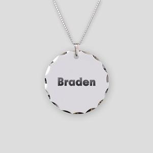 Braden Metal Necklace Circle Charm