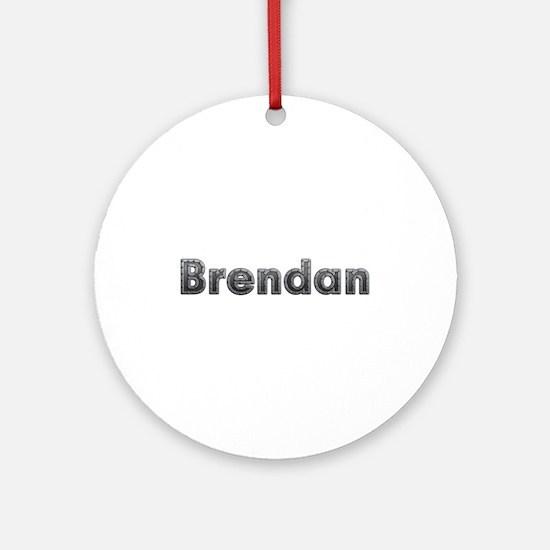 Brendan Metal Round Ornament