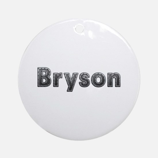 Bryson Metal Round Ornament
