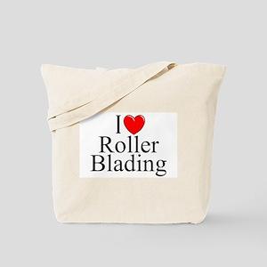 """""""I Love (Heart) Roller Blading"""" Tote Bag"""
