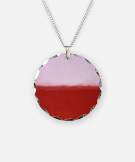 WHITE OVER RED  ROTHKO STUDY Necklace