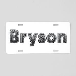 Bryson Metal Aluminum License Plate