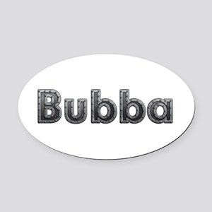Bubba Metal Oval Car Magnet