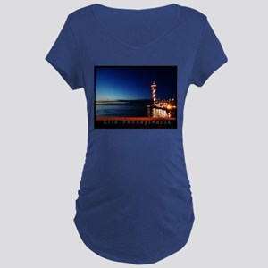 Dobbins Landing at Twilight Maternity T-Shirt