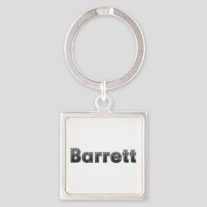 Barrett Metal Square Keychain