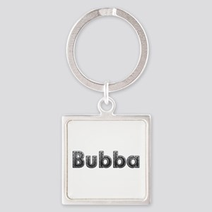 Bubba Metal Square Keychain